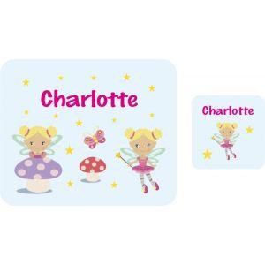 Fairies Hardboard Placemat & Coaster