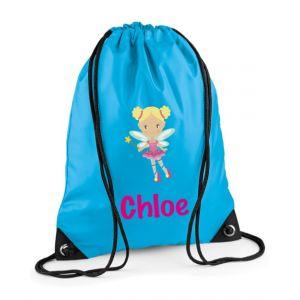 Fairy Any Name Drawstring Bag