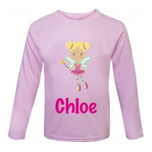 Fairy Any Name Childrens Printed T-Shirt