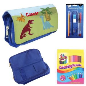 Dinosaurs Filled Pencil Case