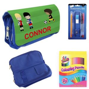 Football Players Filled Pencil Case