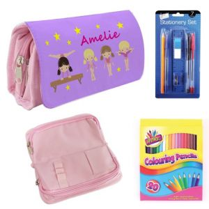Gymnasts Filled Pencil Case
