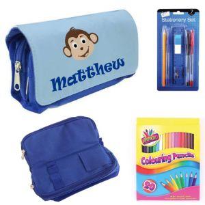 Monkey Filled Pencil Case