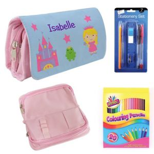 Princess Castle Filled Pencil Case
