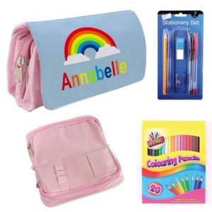 Rainbow Filled Pencil Case