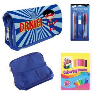 Super Hero Boy Filled Pencil Case