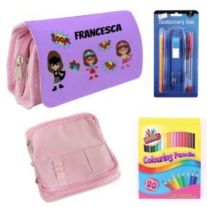 Super Heroes Girls Filled Pencil Case