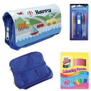 Transport Filled Pencil Case