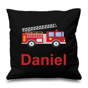 Fire Engine Any Name Printed Cushion