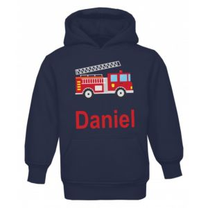 Fire Engine Any Name Childrens Hoodie