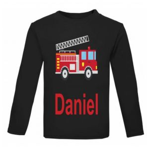 Fire Engine Any Name Childrens Printed T-Shirt