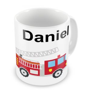 Fireman / Fire Engine + Name Mug
