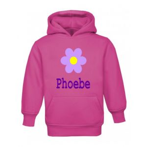 Flower Any Name Childrens Hoodie