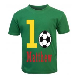 Football Birthday Any Name & Number Childrens Printed T-Shirt