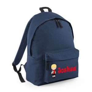 Football Player Any Name Childs Rucksack