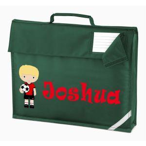 Football Player Any Name Book Bag