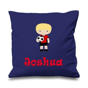 Football Player Any Name Printed Cushion