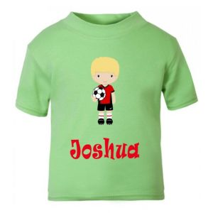 Football Player Any Name Childrens Printed T-Shirt