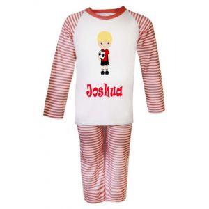 Football Player Any Name Childrens Pyjamas