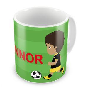 Football Players + Name Mug