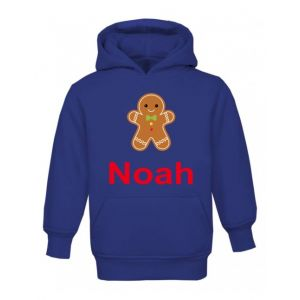 Christmas Gingerbread Man Any Name Childrens Hoodie
