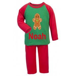 Christmas Gingerbread Man Any Name Childrens Pyjamas