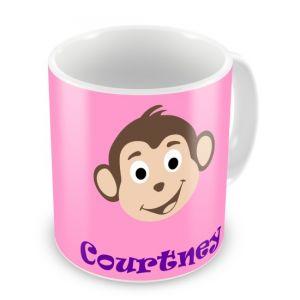 Monkey (Girl) + Name Mug