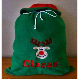 Any Name + Applique Design Large Christmas Santa Sacks
