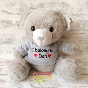 Grey Teddy Bear with T-shIrt