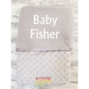 Any Name Grey Bubble Mink Wrap Baby Blanket
