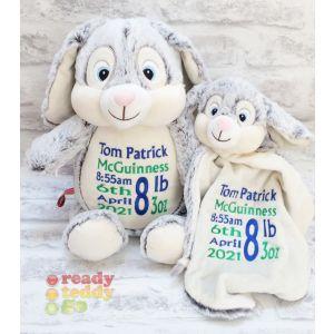 Munchkin Pie The Bunny Rabbit Cubbie & Blankie Gift Set