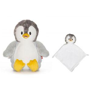 Bingle The Grey Penguin Cubbie & Blankie Gift Set