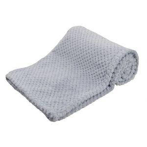 Any Name Grey Waffle Wrap Baby Blanket