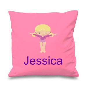 Gymnast Any Name Printed Cushion