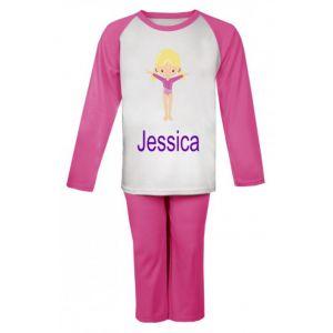 Gymnast Any Name Childrens Pyjamas