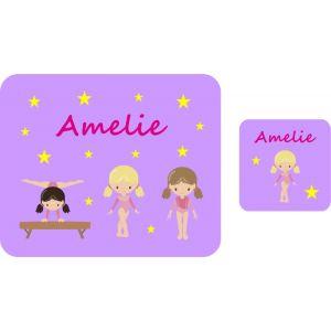Gymnasts Hardboard Placemat & Coaster
