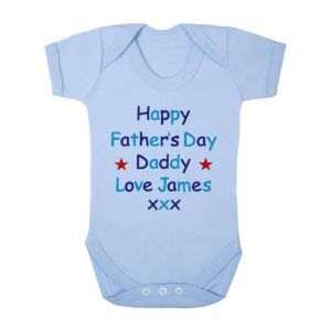 Happy Father's Day Text Baby Vest