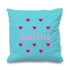 Hearts Any Name Printed Cushion