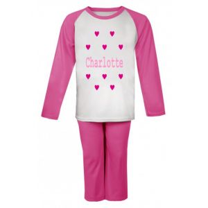 Hearts Any Name Childrens Pyjamas