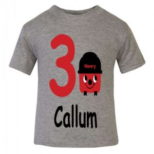 Henry Hoover Birthday Any Name & Number Childrens Printed T-Shirt