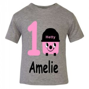 Hetty Hoover Birthday Any Name & Number Childrens Printed T-Shirt