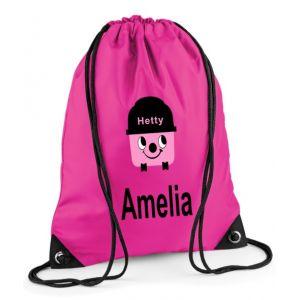 Hetty Hoover Any Name Drawstring Bag