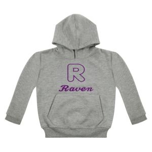 Applique Letter (CHOOSE FABRIC) + Any Name Childrens Embroidered Hoodie