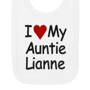 I Heart My Any Text Baby Bib