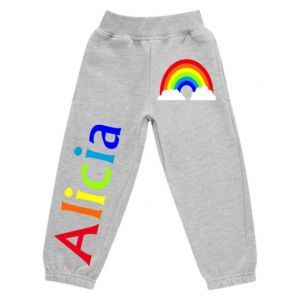 Rainbow Any Name Childrens Jogging Bottoms