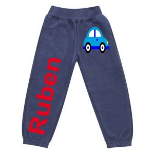 Car Any Name Childrens Jogging Bottoms