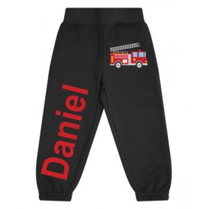Fire Engine Any Name Childrens Jogging Bottoms