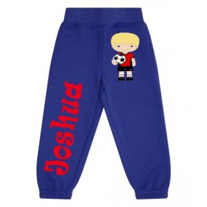 Football Player Any Name Childrens Jogging Bottoms