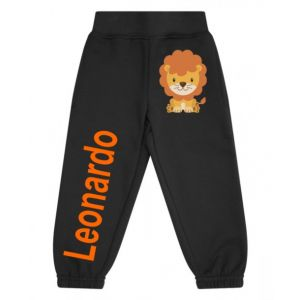 Lion Any Name Childrens Jogging Bottoms