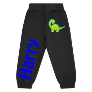 Cute Dinosaur Any Name Childrens Jogging Bottoms